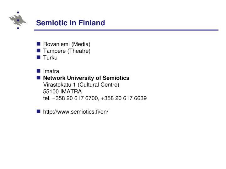 Semiotic in Finland