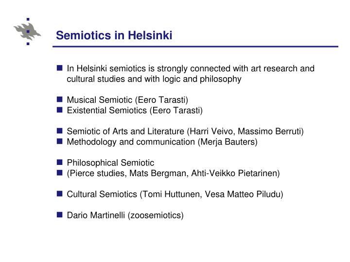 Semiotics in Helsinki