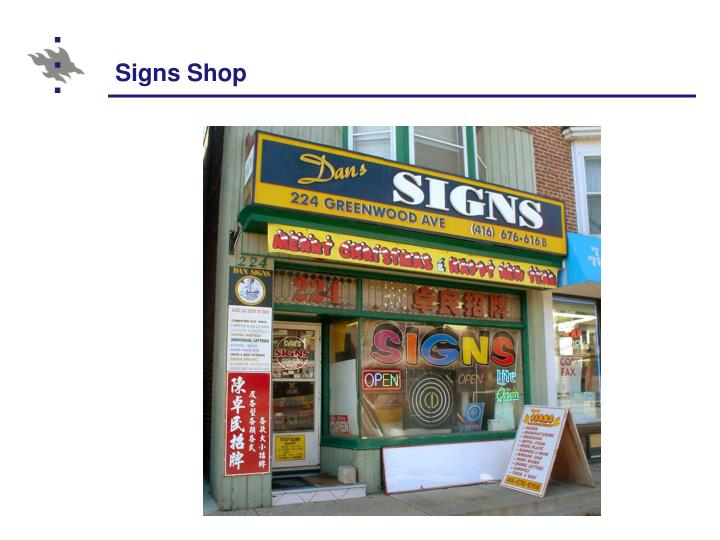 Signs Shop