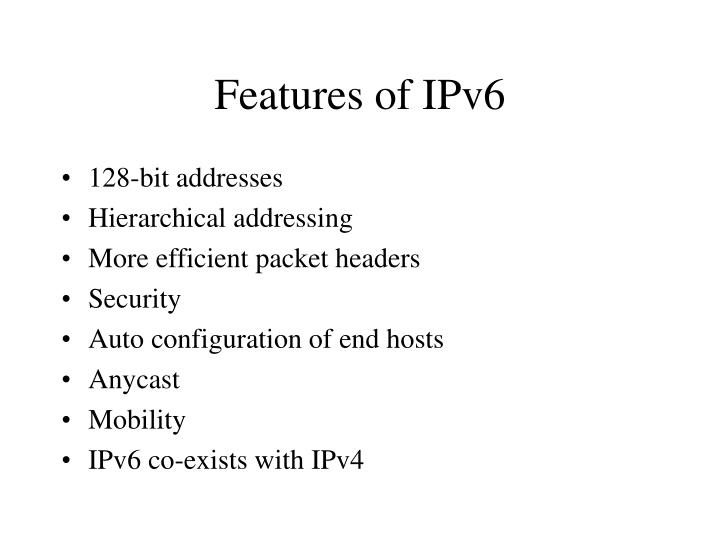 Features of IPv6