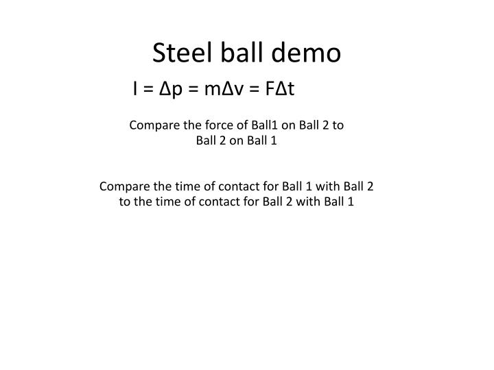 Steel ball demo