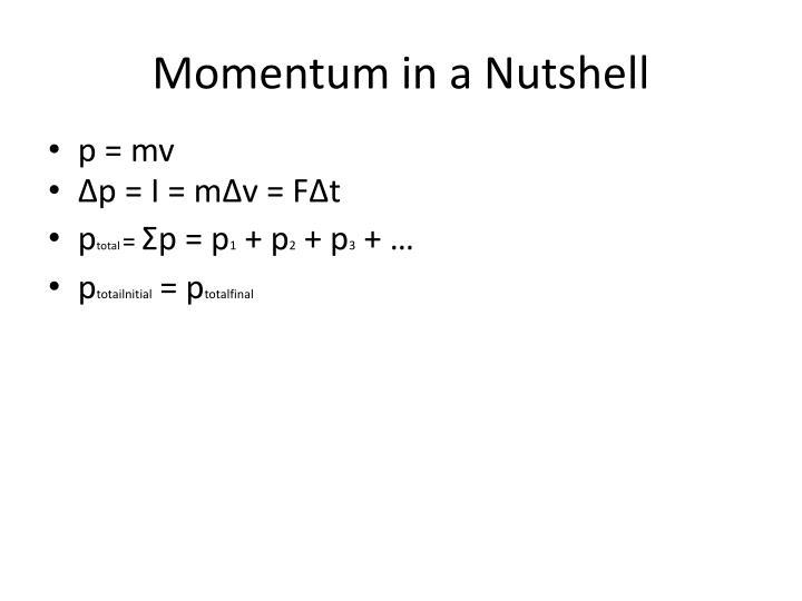 Momentum in a Nutshell