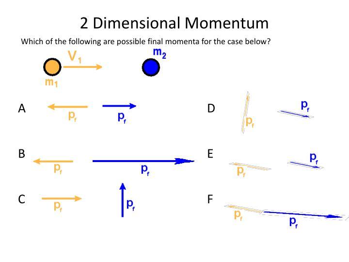 2 Dimensional Momentum