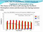 cpc iri probabilistic enso outlook updated 6 november 2014