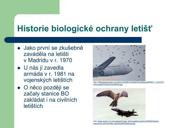 Historie biologické ochrany letišť