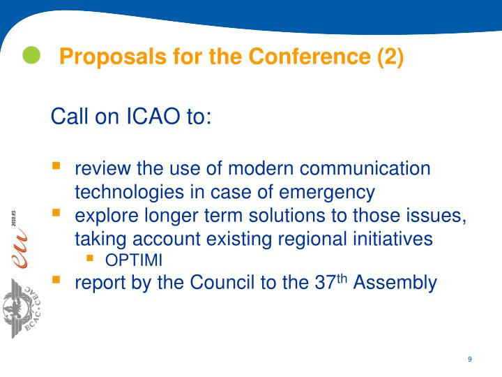Proposals for the Conference (2)