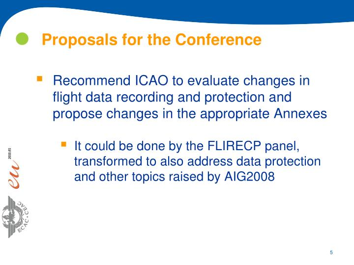 Proposals for the Conference