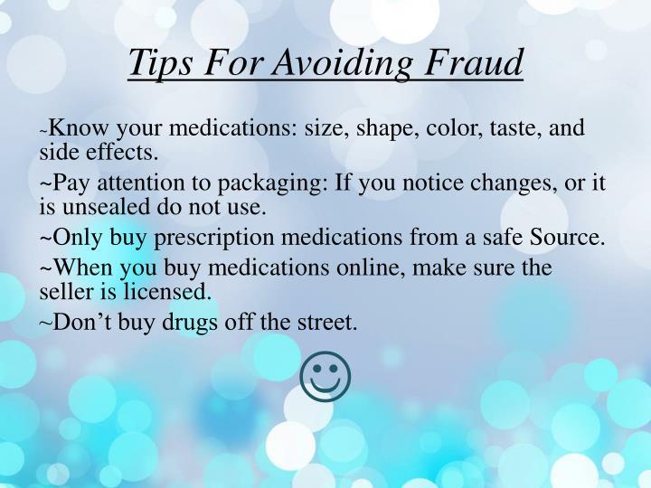 Tips For Avoiding Fraud