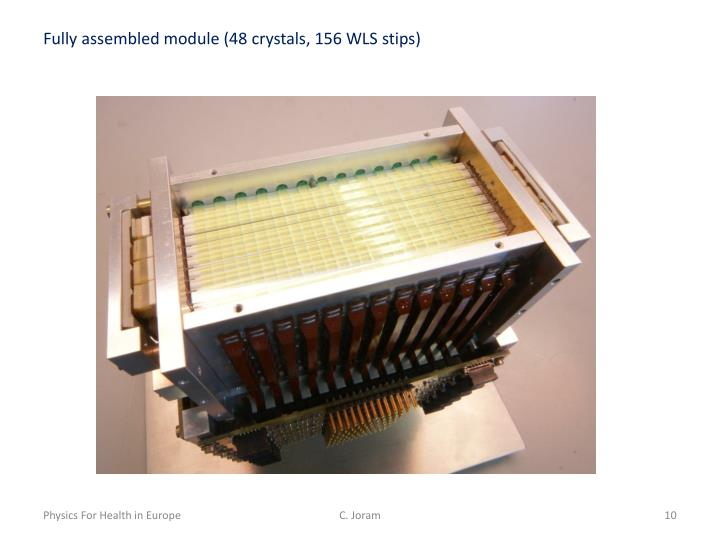 Fully assembled module (48 crystals, 156 WLS
