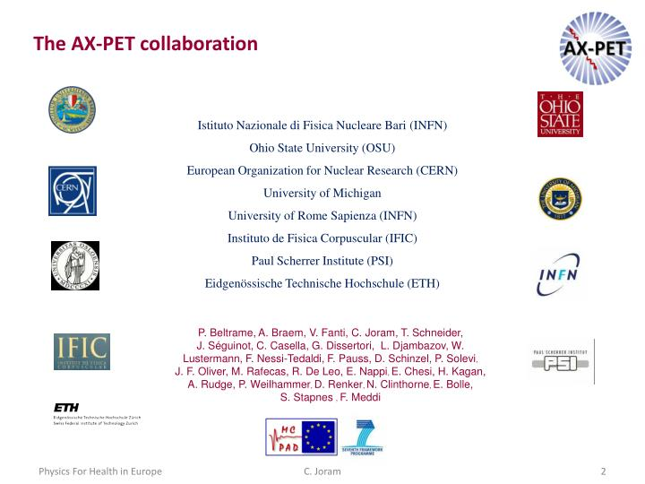 The AX-PET collaboration
