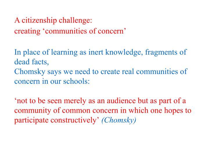 A citizenship challenge:
