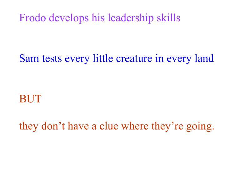 Frodo develops his leadership skills