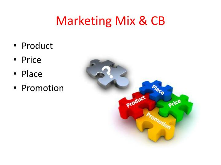Marketing Mix & CB
