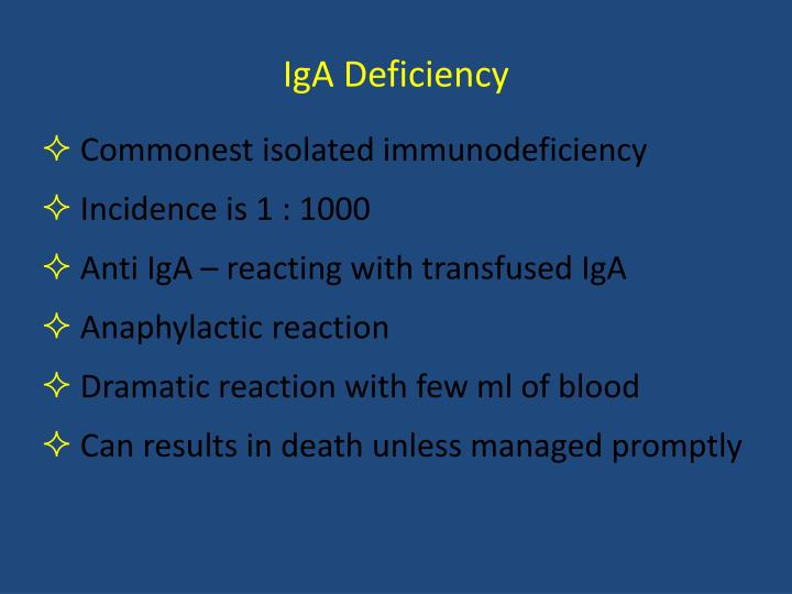 IgA Deficiency