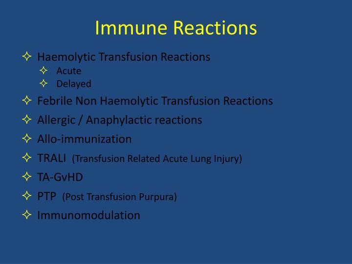 Immune Reactions