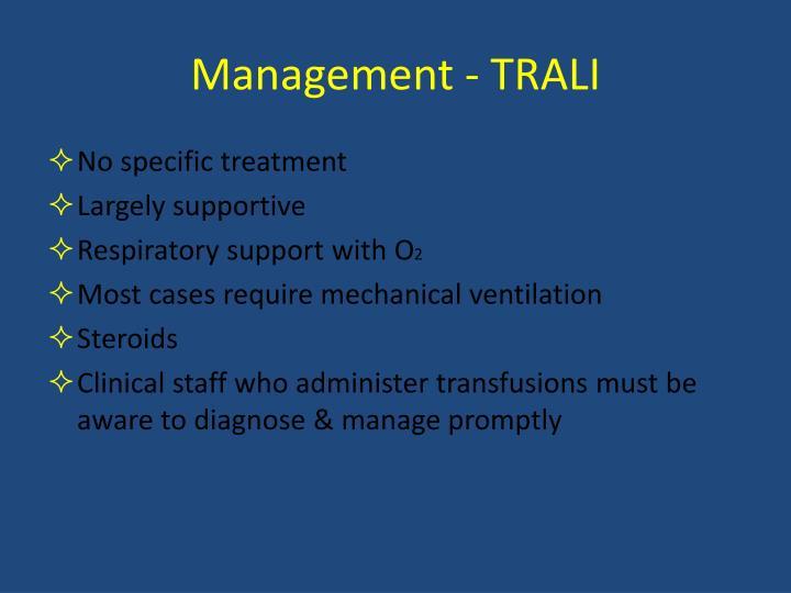 Management - TRALI