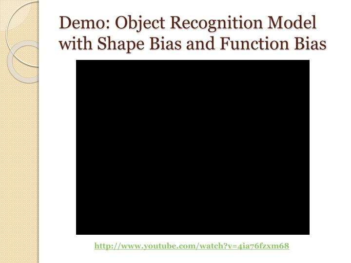Demo: Object Recognition Model with Shape Bias and Function Bias