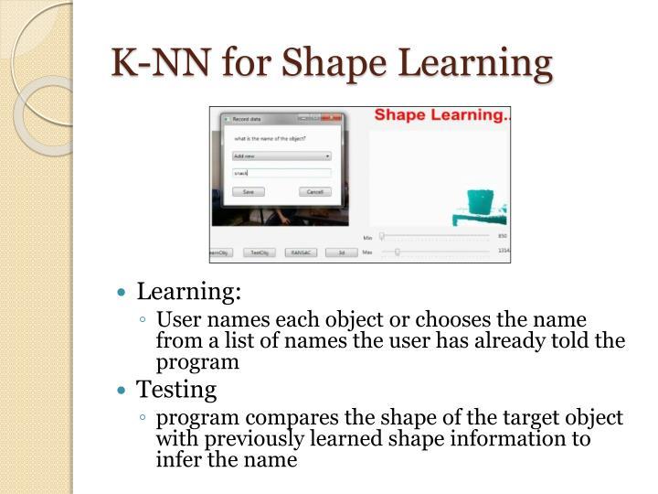 K-NN for Shape Learning