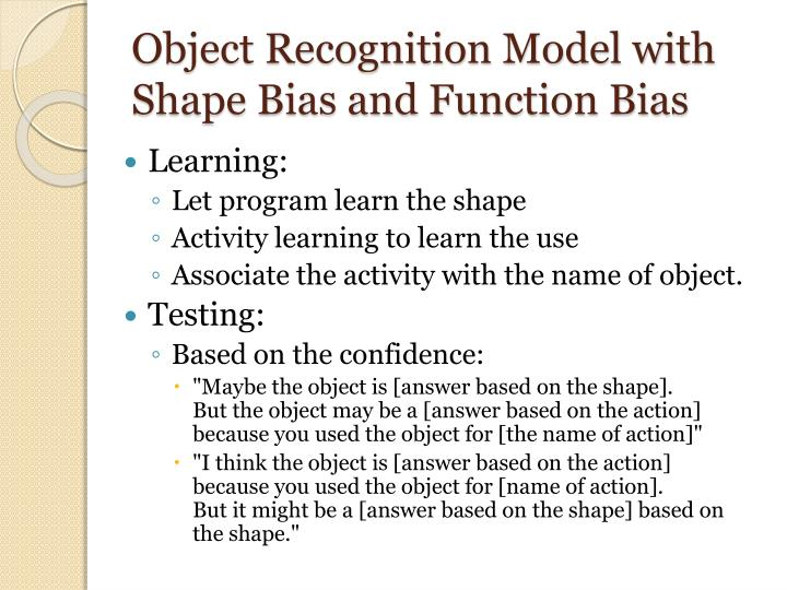 Object Recognition Model with Shape Bias and Function Bias