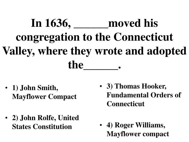 1) John Smith, Mayflower Compact