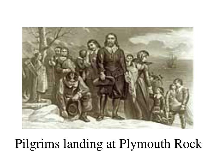 Pilgrims landing at Plymouth Rock