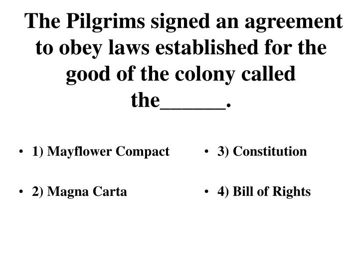 1) Mayflower Compact