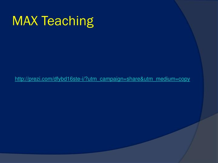 MAX Teaching