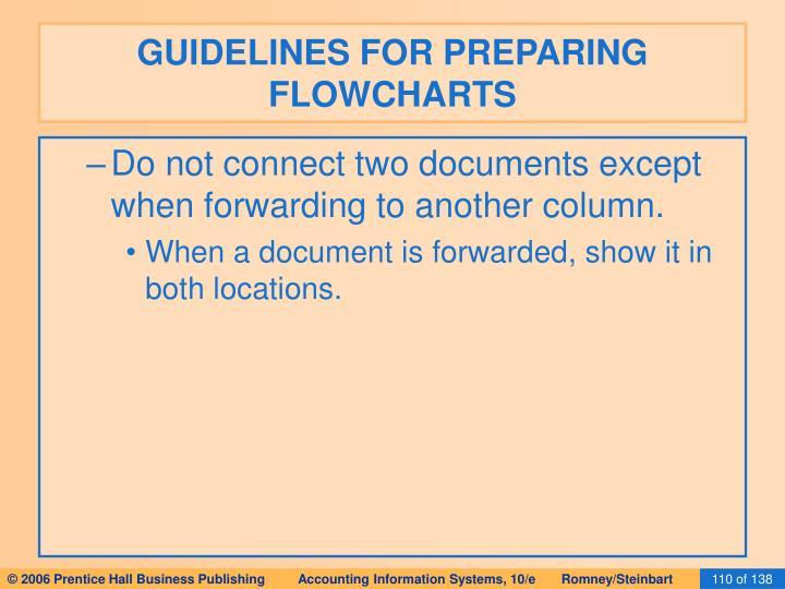 GUIDELINES FOR PREPARING FLOWCHARTS