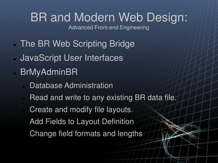 Br and modern web design advanced front end engineering