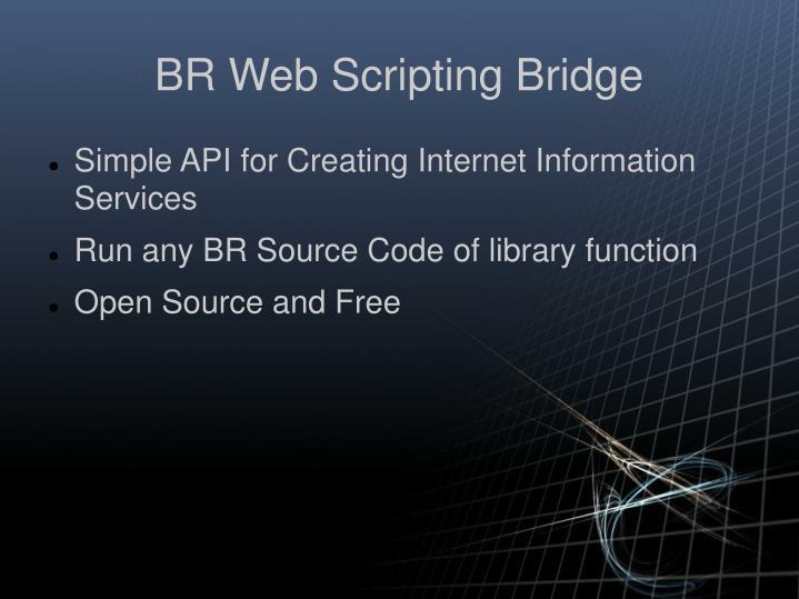 BR Web Scripting Bridge
