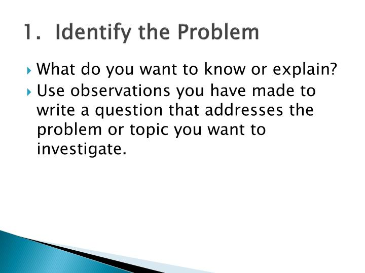 1.  Identify the Problem