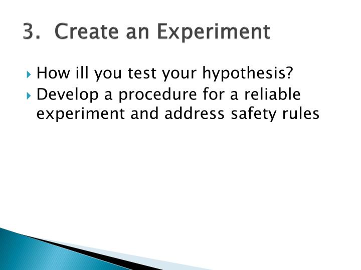 3.  Create an Experiment