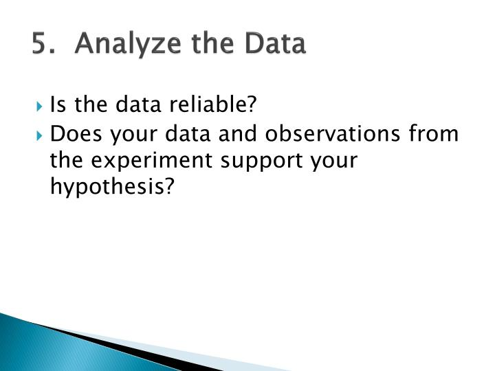 5.  Analyze the Data