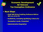 economic development ad valorem tax exemption ordinance1