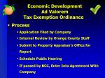 economic development ad valorem tax exemption ordinance3