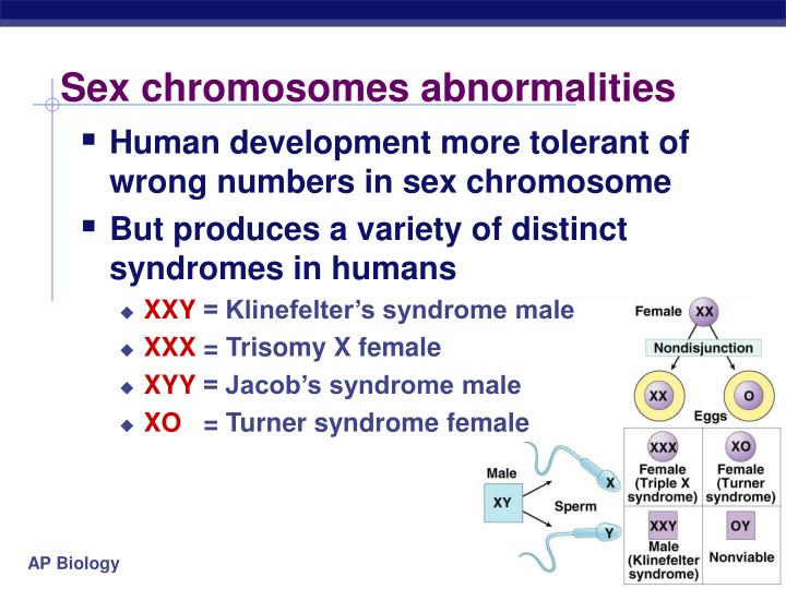 Sex chromosomes abnormalities