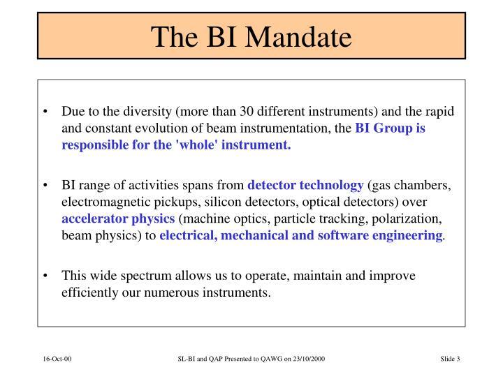 The BI Mandate