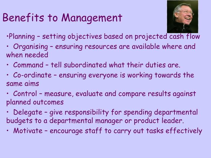 Benefits to Management