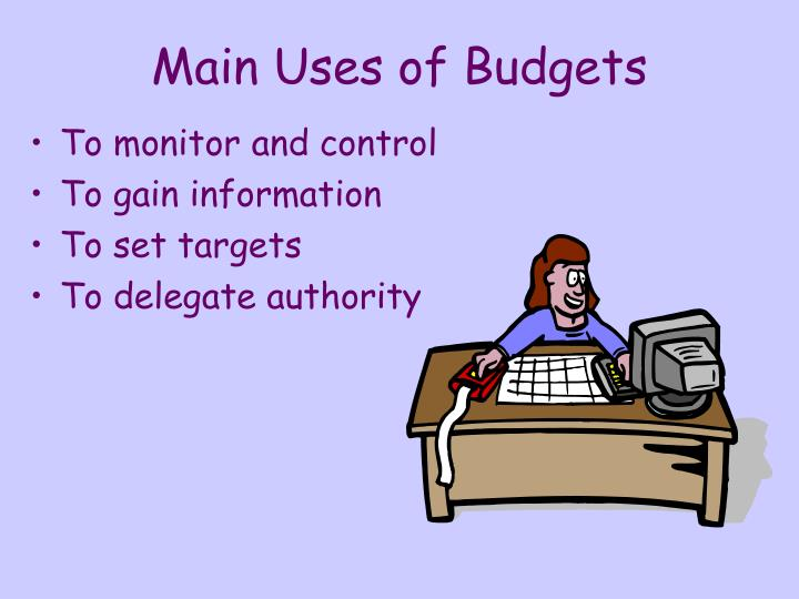 Main uses of budgets