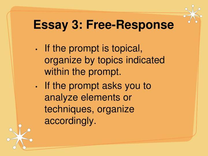 Essay 3: Free-Response