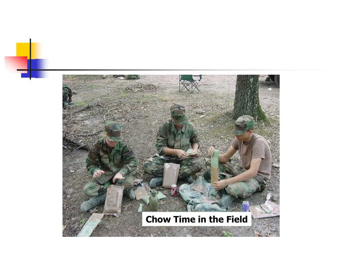 Chow Time in the Field