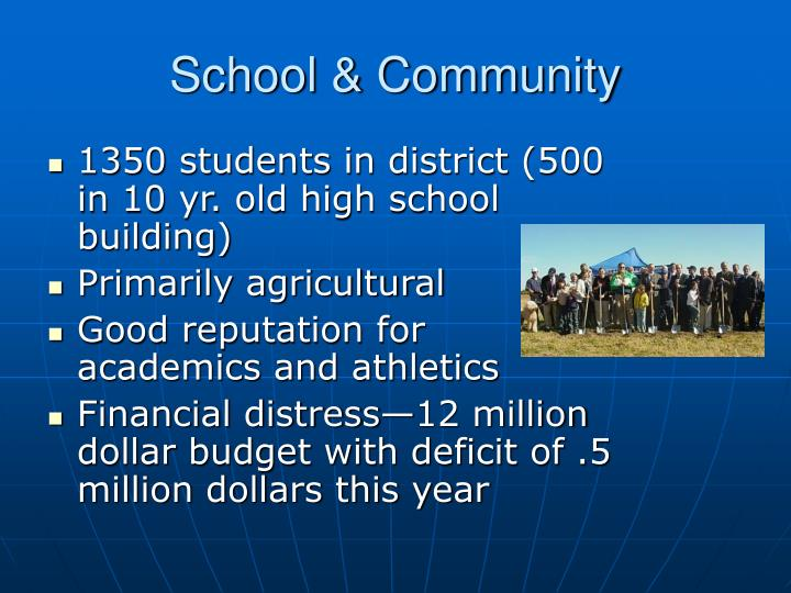 School & Community