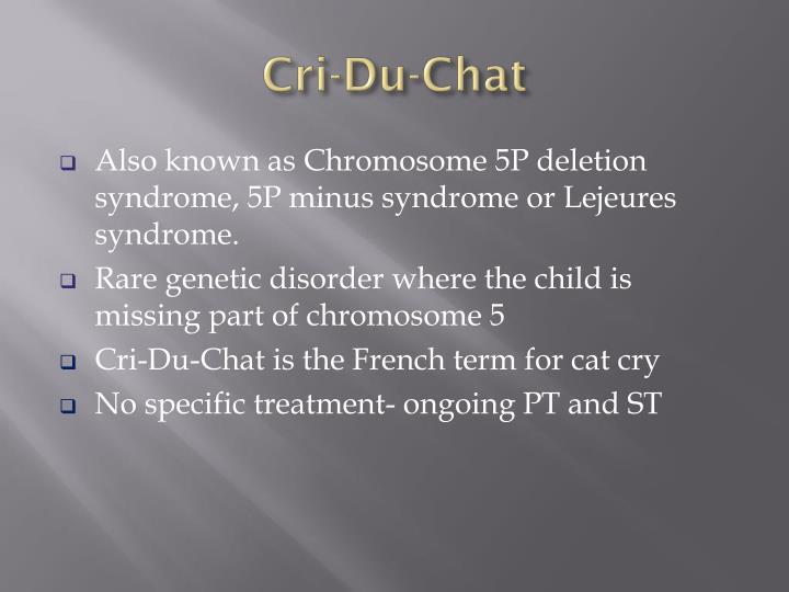 Cri-Du-Chat