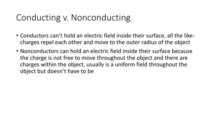 Conducting v.