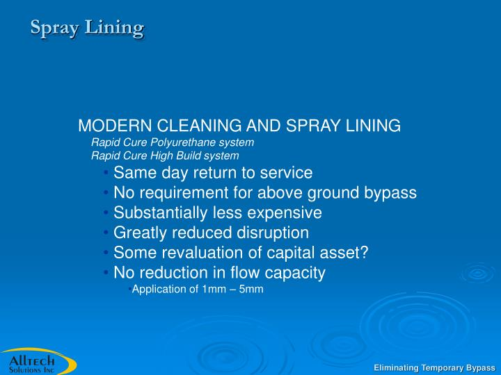 Spray Lining