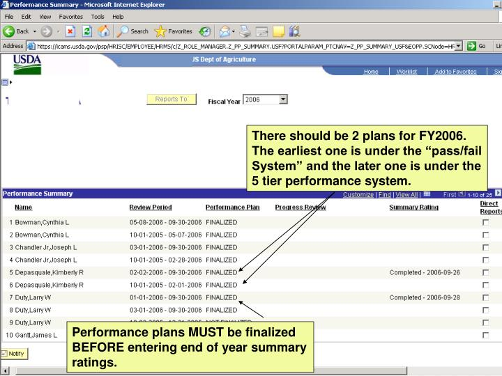 There should be 2 plans for FY2006.