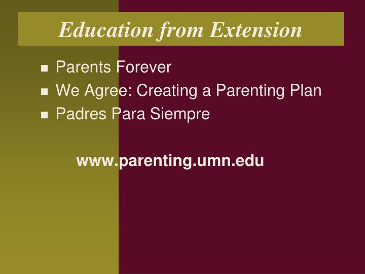 Education from Extension