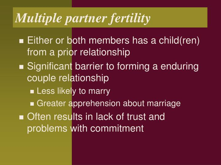 Multiple partner fertility