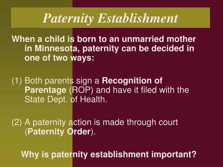 Paternity Establishment