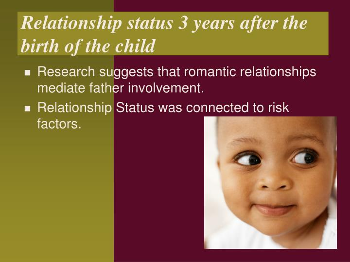 Relationship status 3 years after the birth of the child